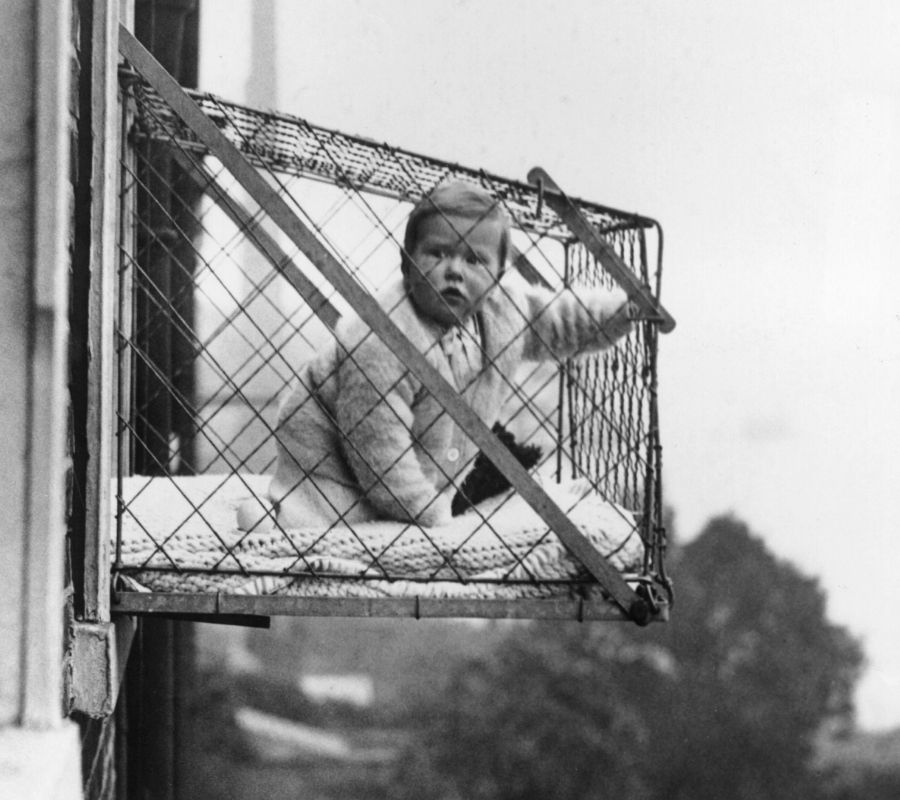 baby in the cage