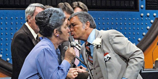 richard dawson kissing a contestant
