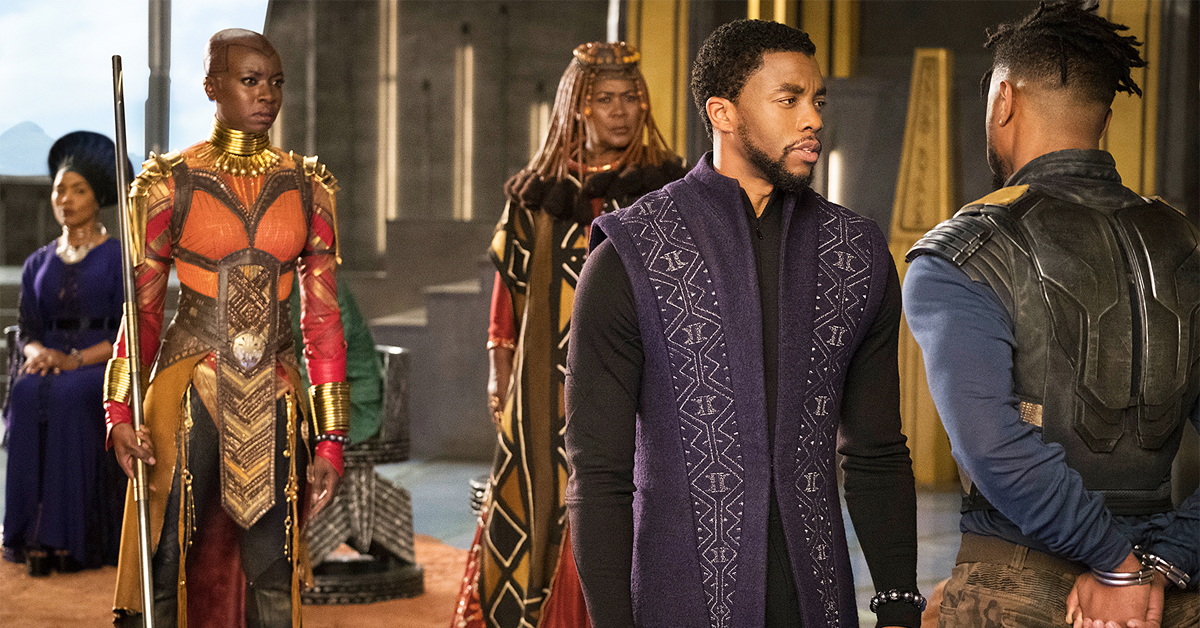 cast of black panther in costume