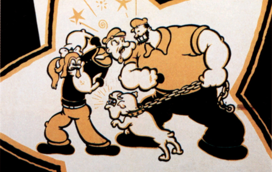 popeye and bluto arguing