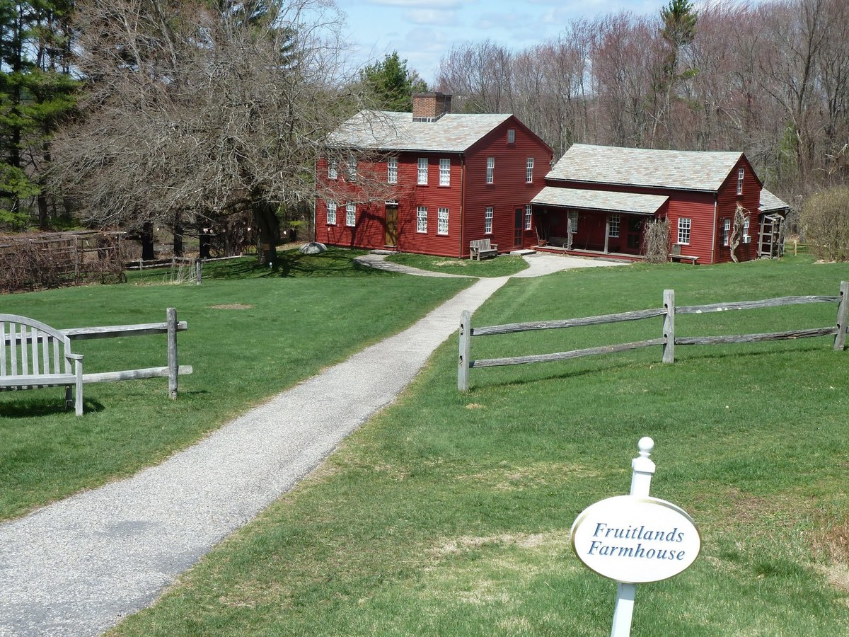 Still standing and preserved, the fruitlands farmhouse is a historical landmark.