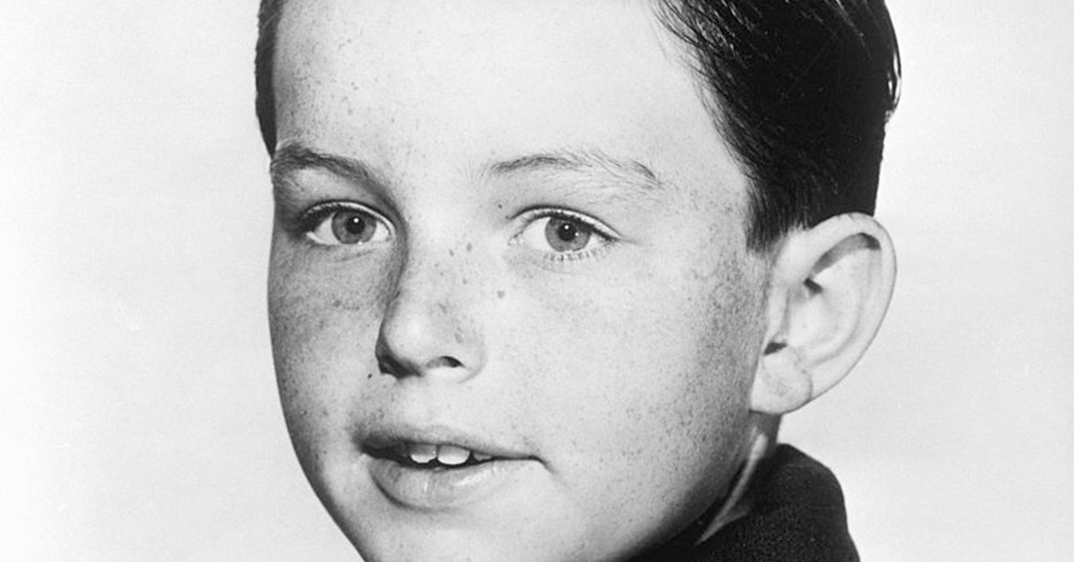 jerry mathers black and white portrait