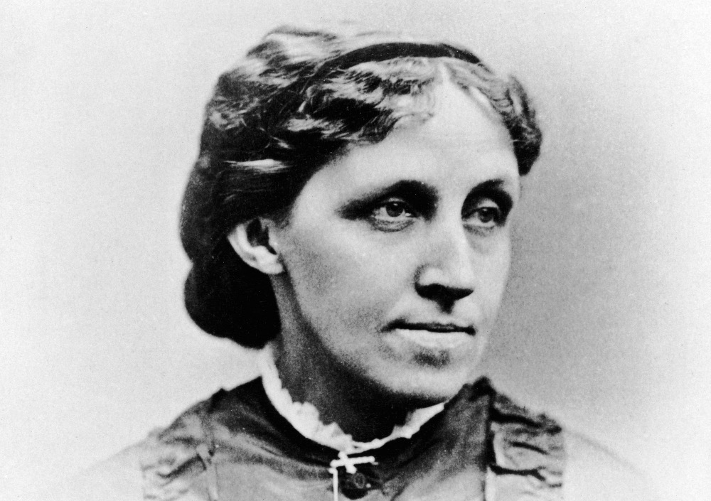 louisa may alcott black and white