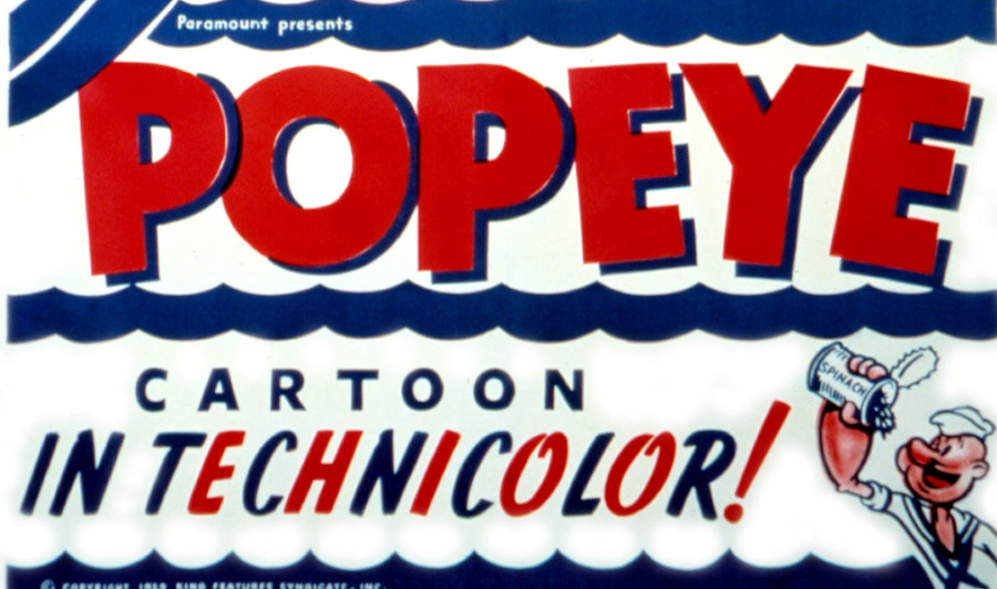 popeye in technicolor
