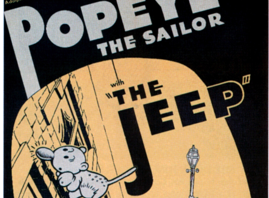 popeye might have inspired the 'jeep' name