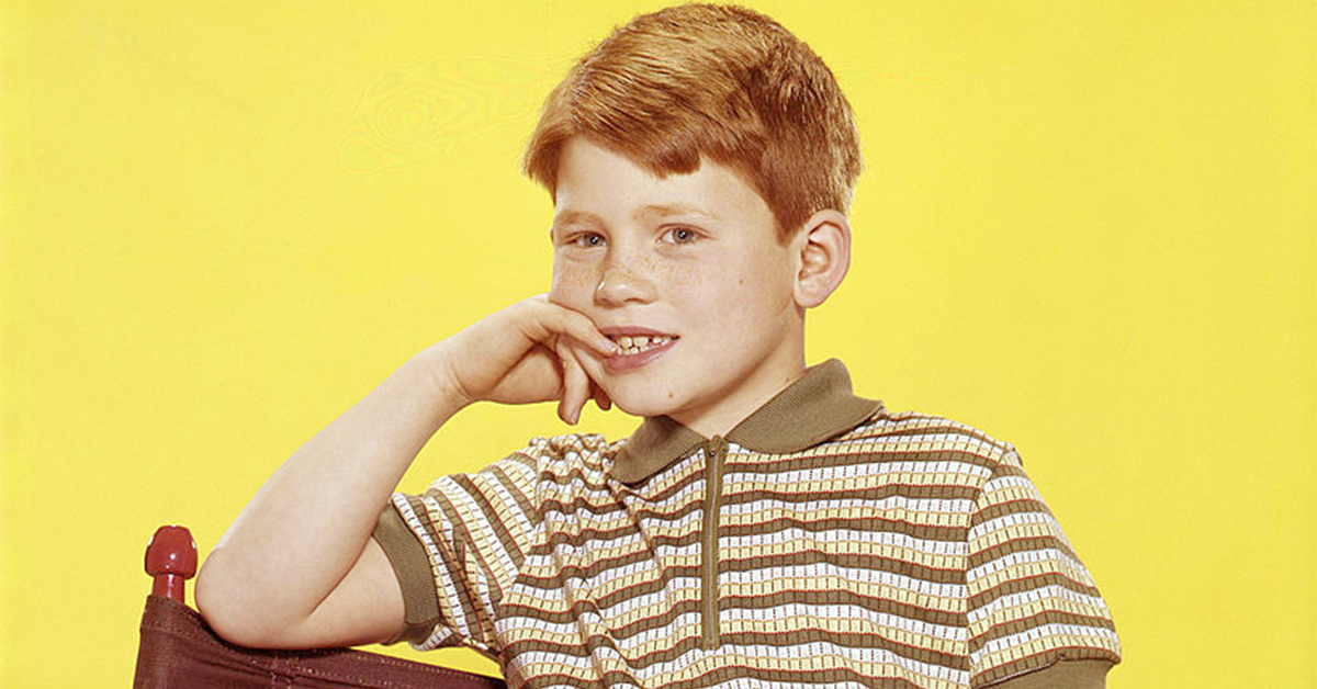 ron howard sitting in a director's chair as a child