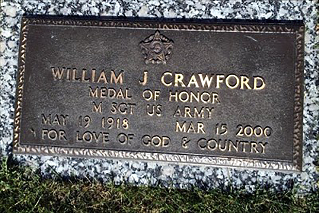 Crawford's tombstone