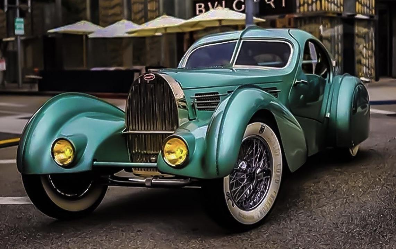Bugatti Aerolithe art deco cars