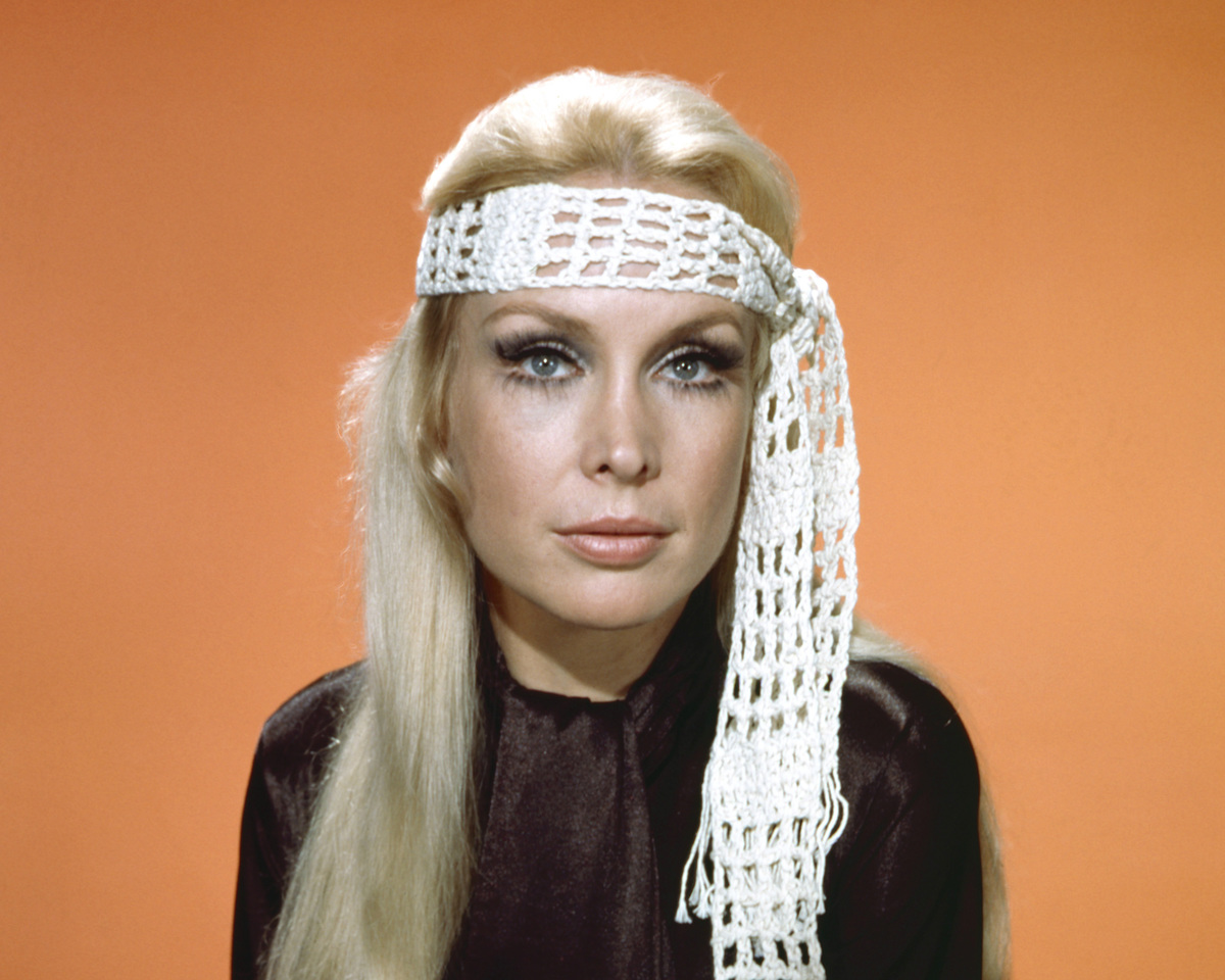 American actress Barbara Eden wearing a crocheted headband, circa 1970