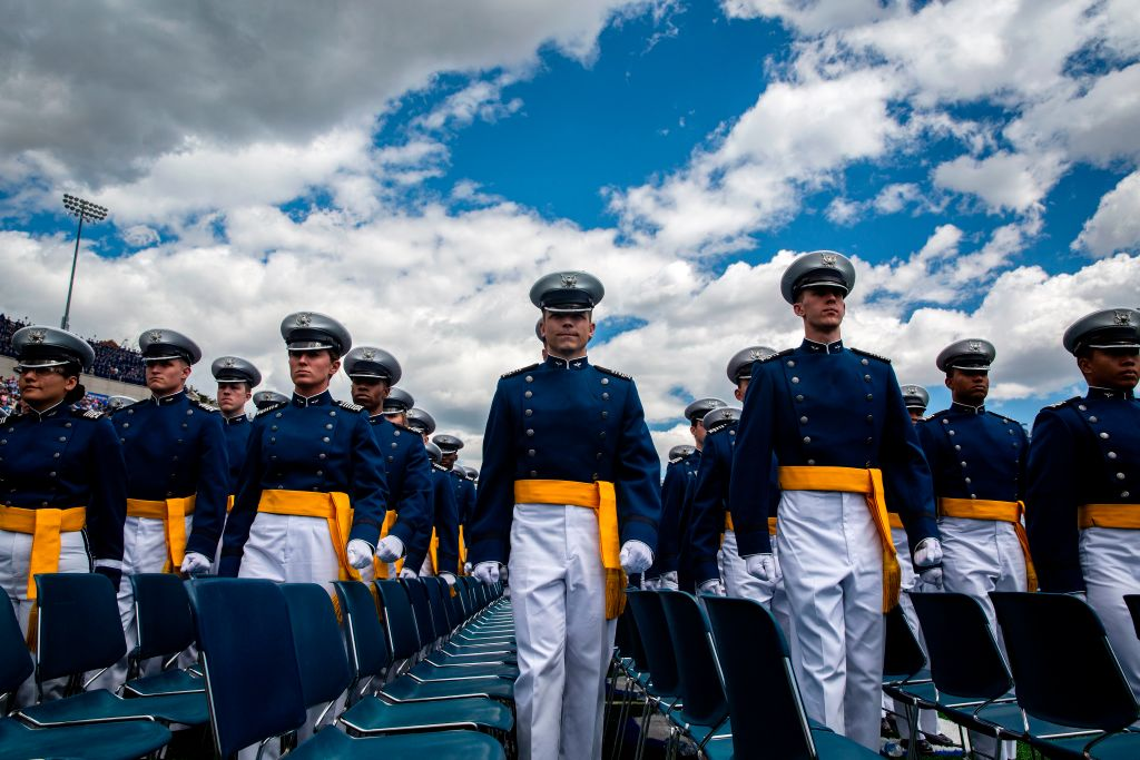 Cadets at attention