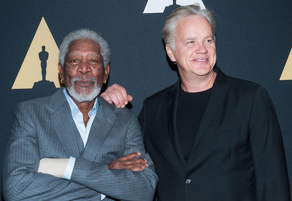 Freeman and Robbins at screening