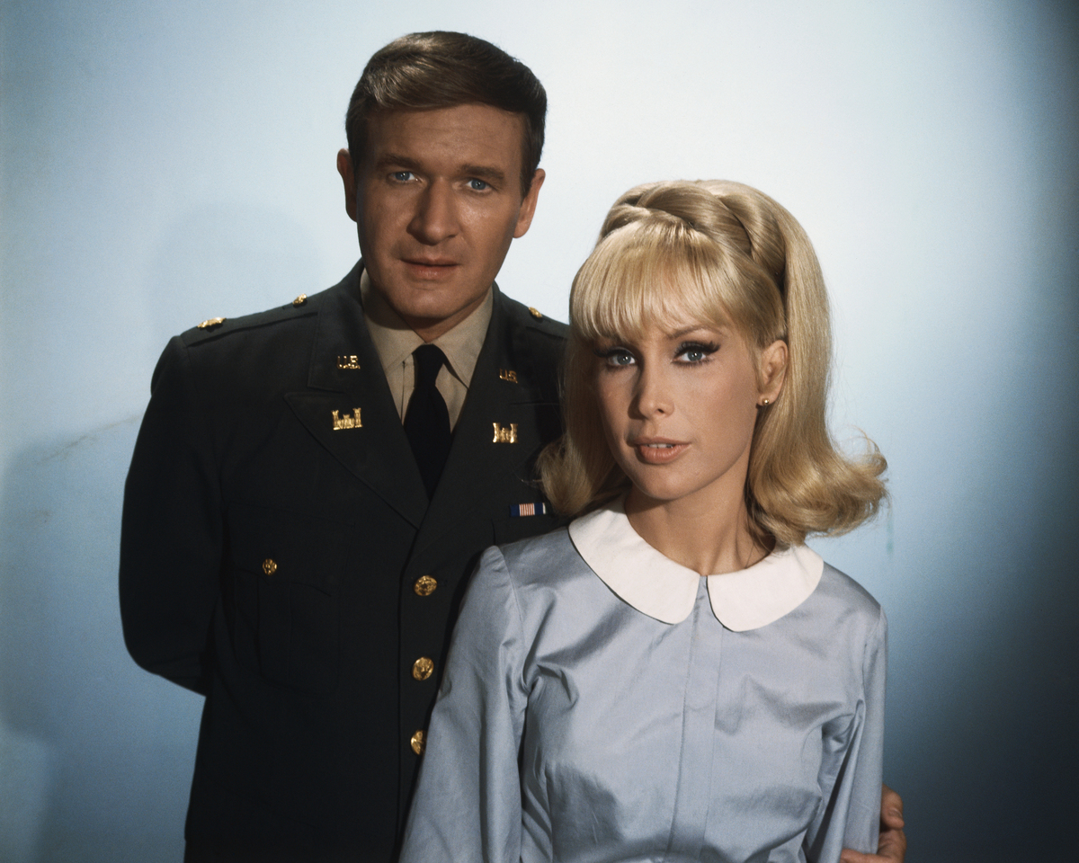 Bill Daily and Barbara Eden, stars from the television series I Dream of Jeannie, which aired from 1965-1970.