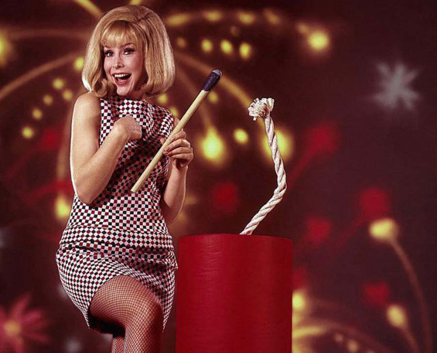 Barbara Eden in an Independence Day promo, 1967