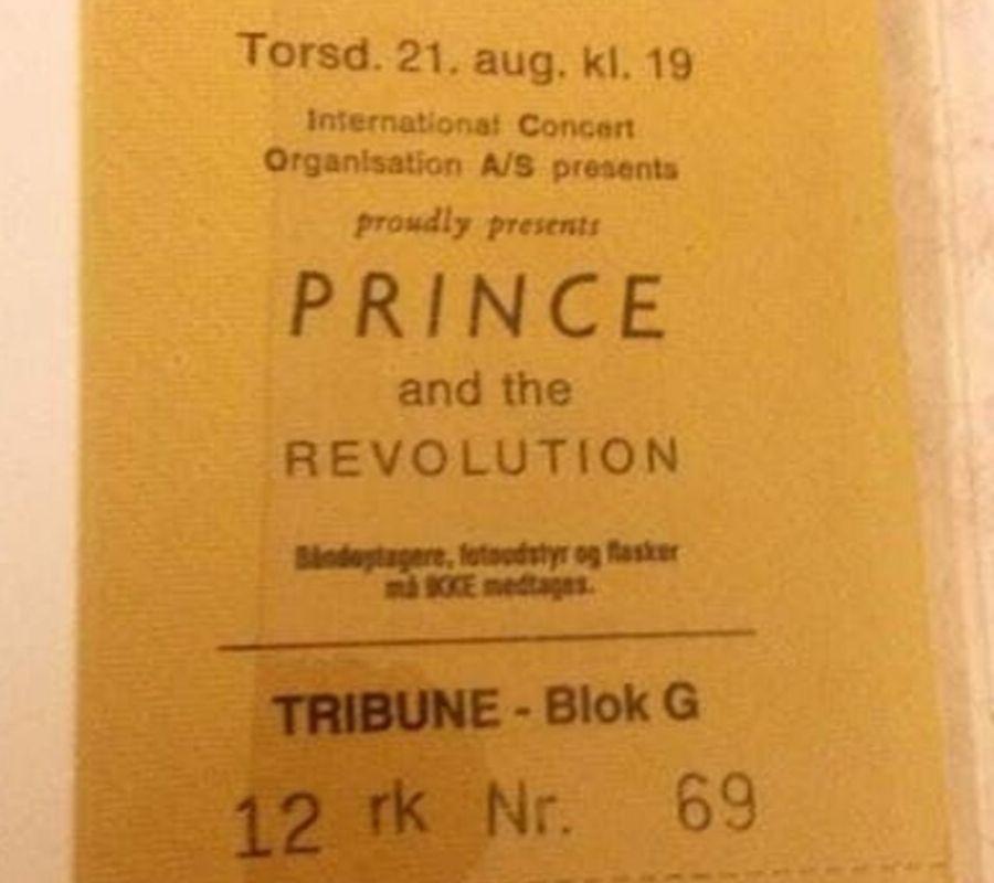 prince concert ticket