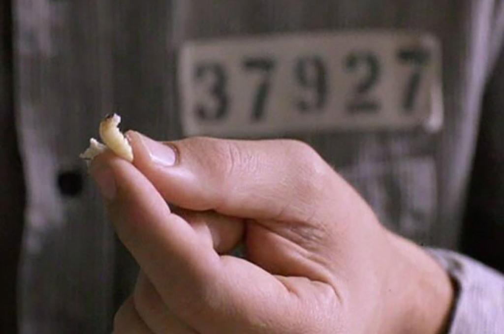 Brooks holding a maggot