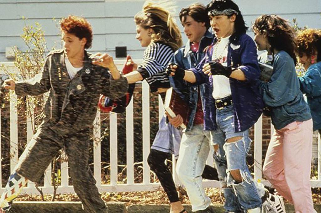 Kids running down the street