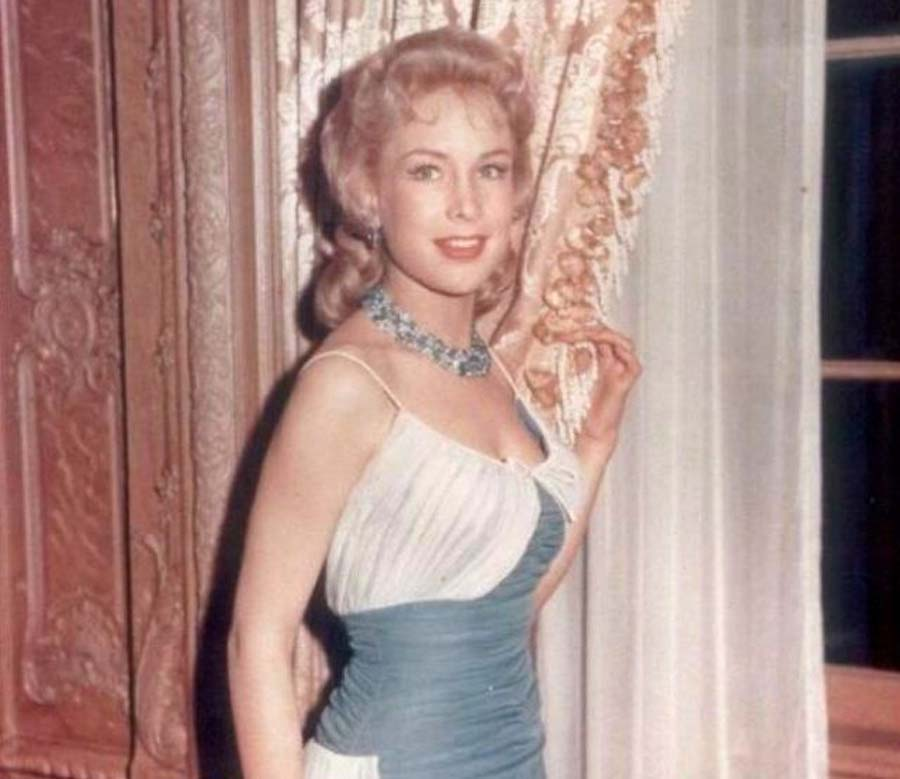 Barbara Eden wearing a classy gown