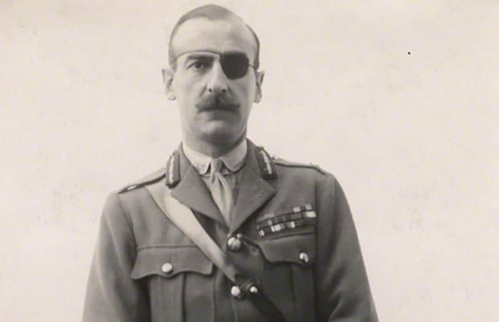 Carton de Wiart with eye patch