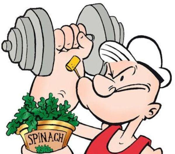 Popeye's Love For Spinach Is Due To A Mathematical Error