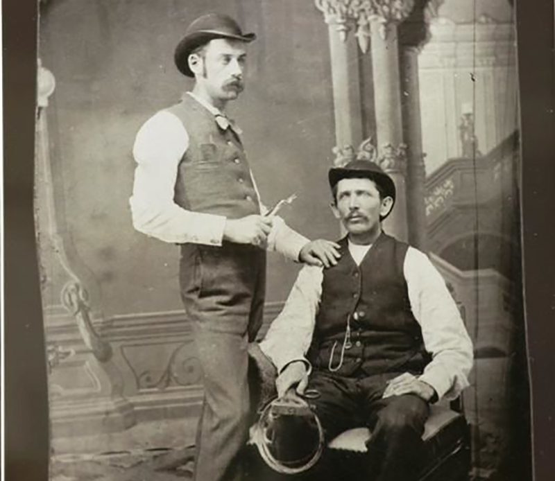 Doc Holliday with a patient at his Dentistry school