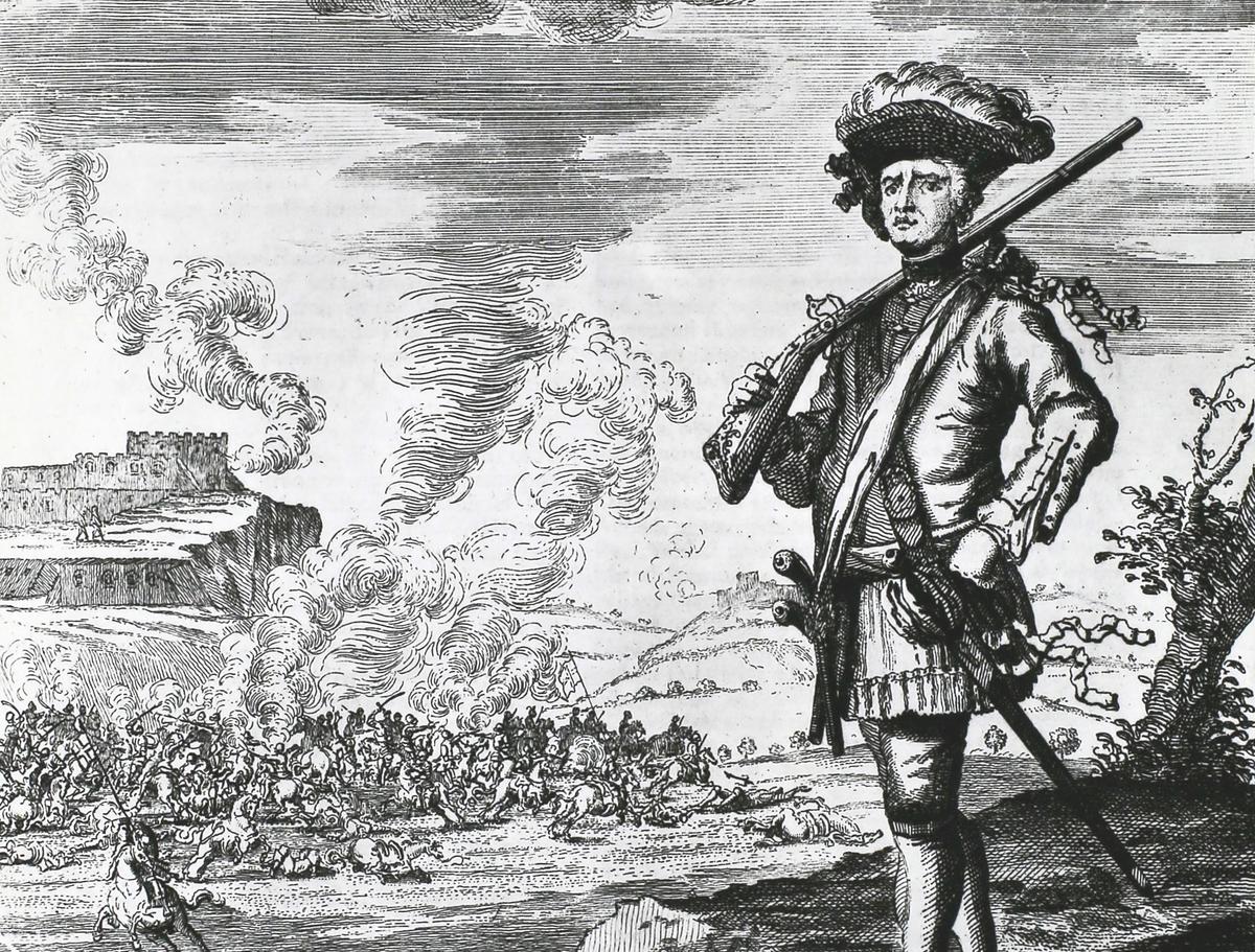 Illustration of Privateer Captain Henry Morgan by J. Nicholls