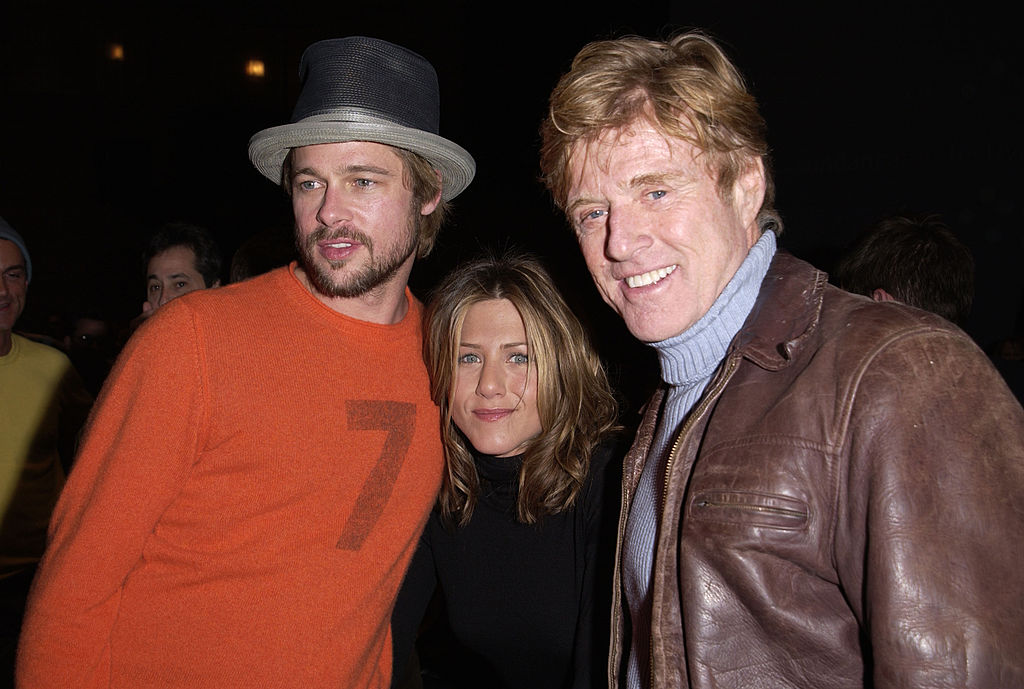 Reford with Brad Pitt and Jennifer Aniston