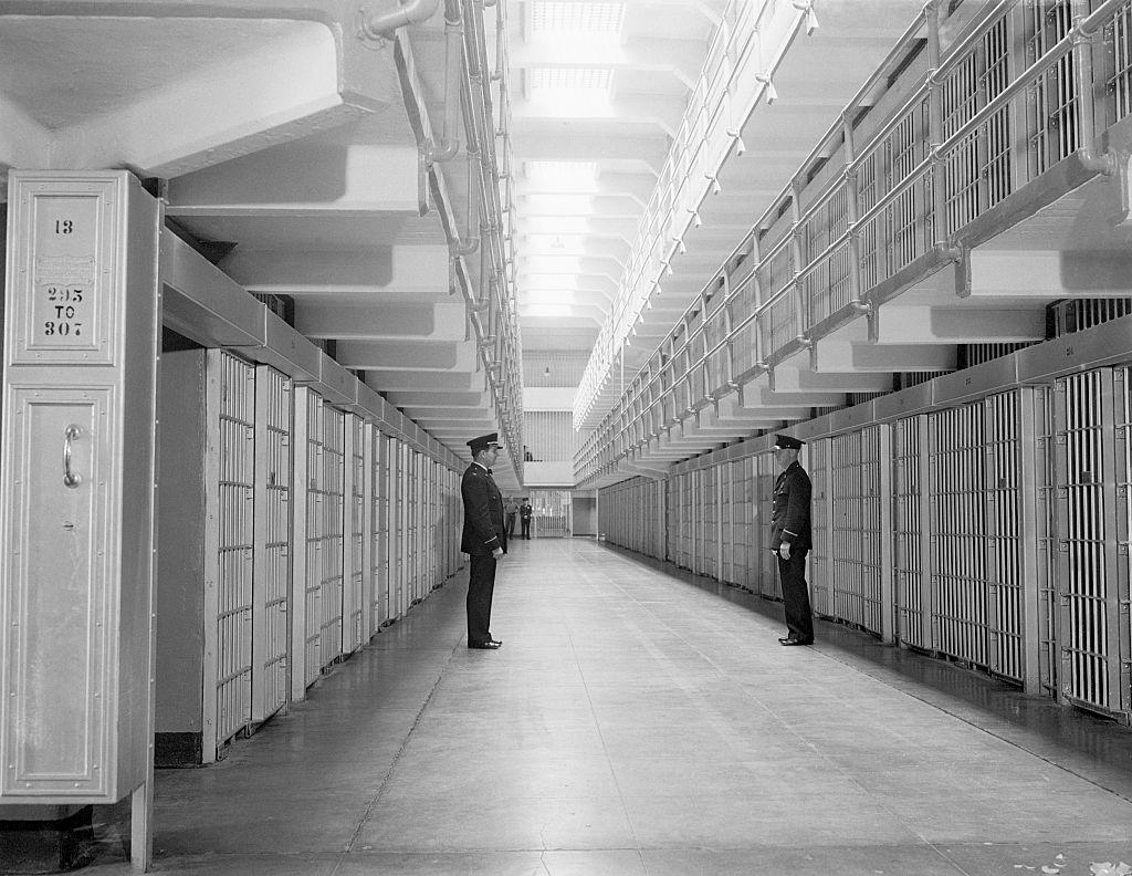 prison guards inside alcatraz