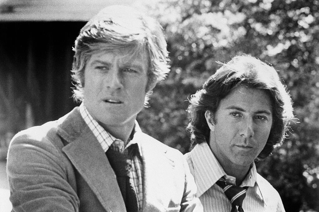 Hoffman and Redford in the film