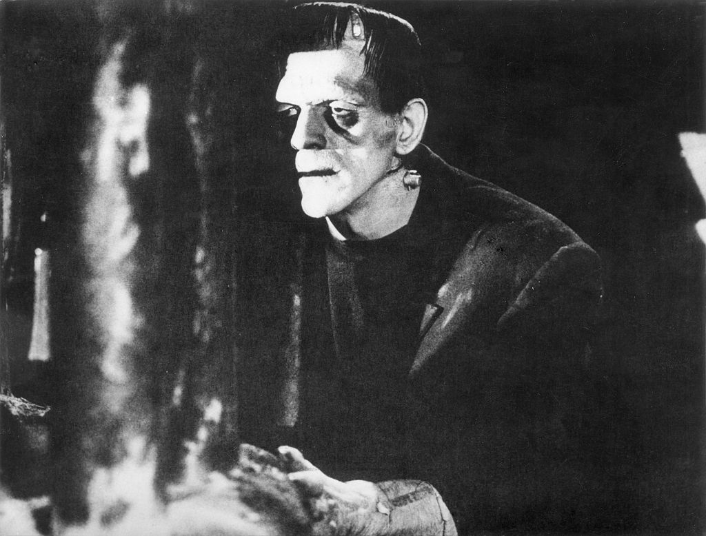 boris karloff as frankenstein