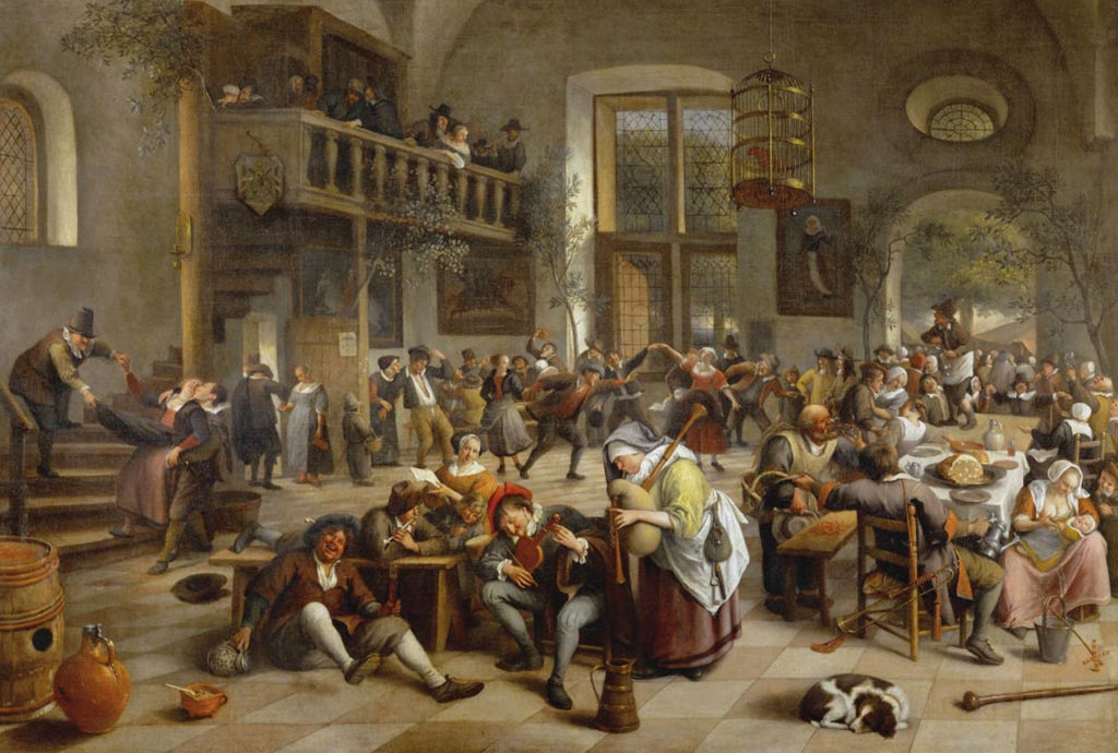 People in a tavern