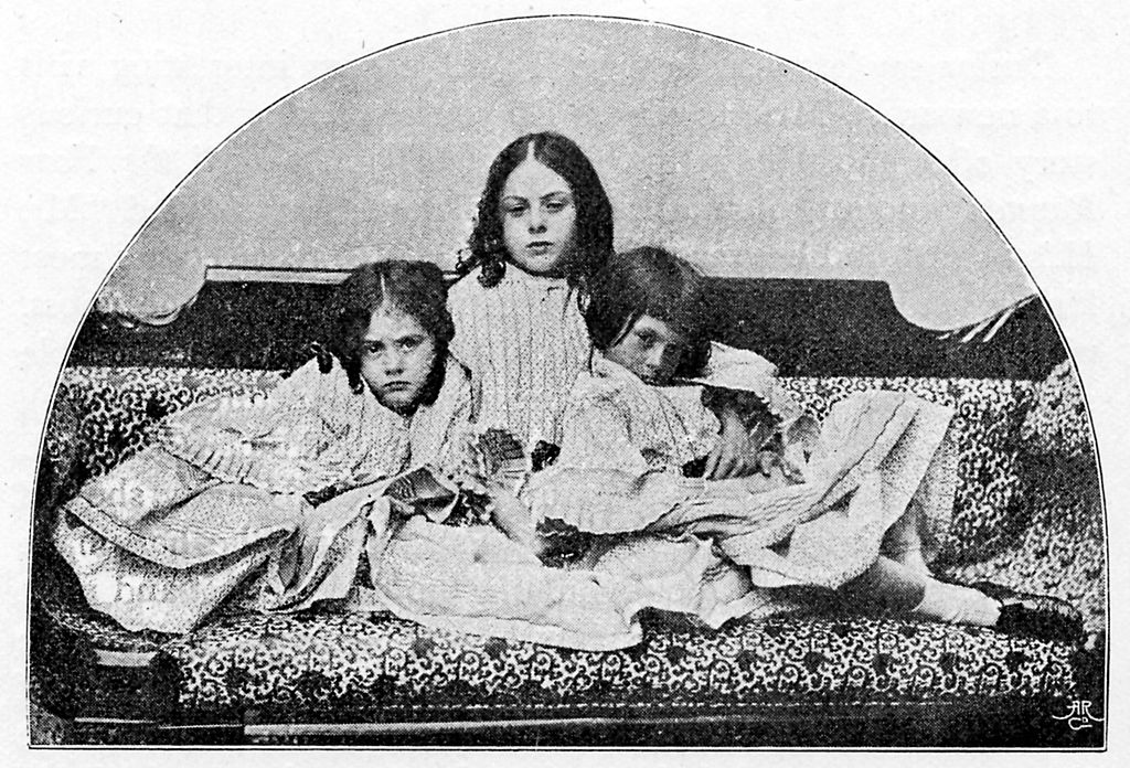 Edith, Lorina, and Alice Liddell pose for a photo together