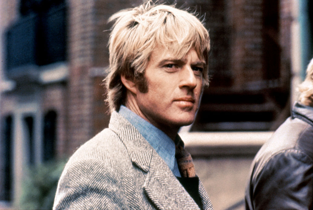 Redford on the set of Three Days of the Condor