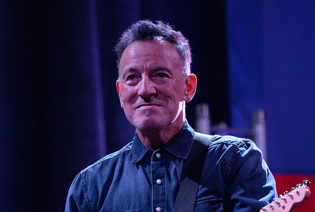 Springsteen performing at the Stand Up For Heroes event