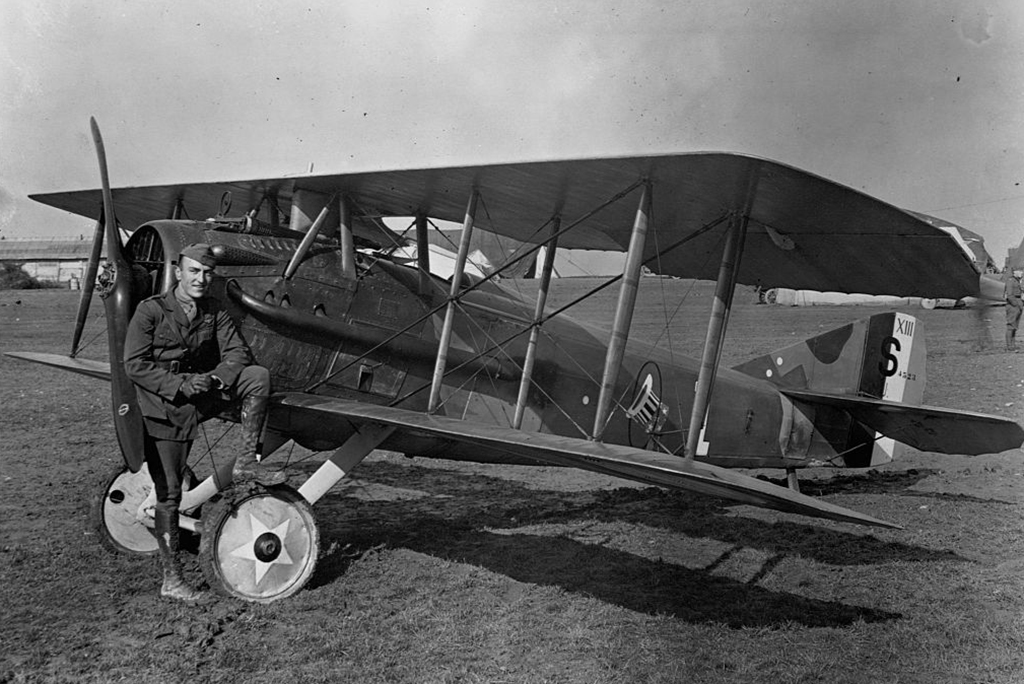 Rickenbacker with his plane