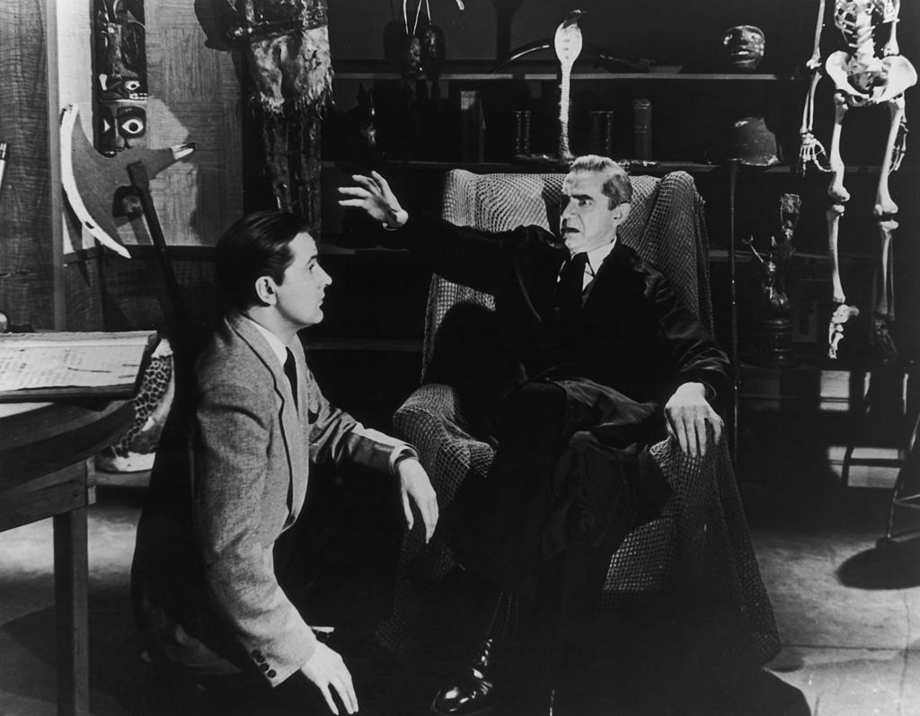 bela lugosi pictured with ed wood late in his career