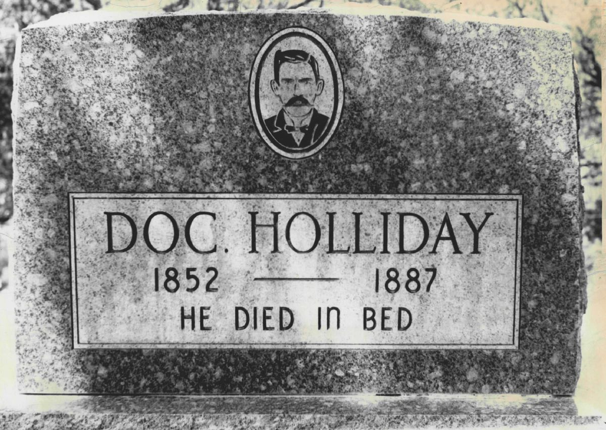 Doc Holliday's Tombstone in Glenwood Springs is Tourist Attraction Today.