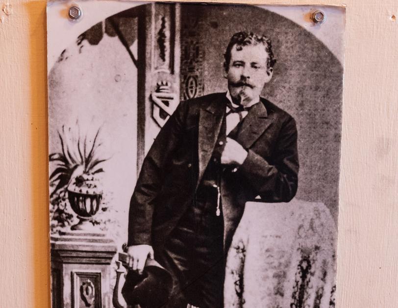 Photo of Ike Clanton hanging in Tombstone, Arizona