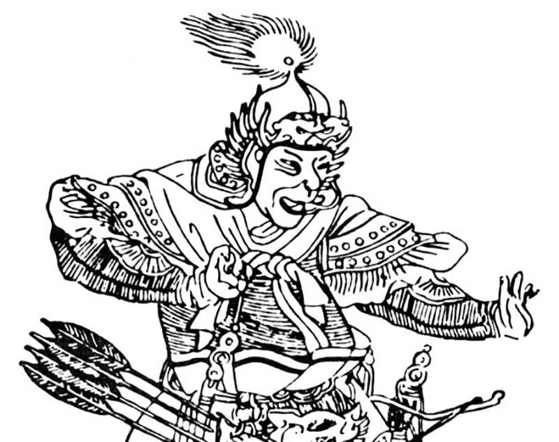 Illustration of Genghis Khan's general, Subutai
