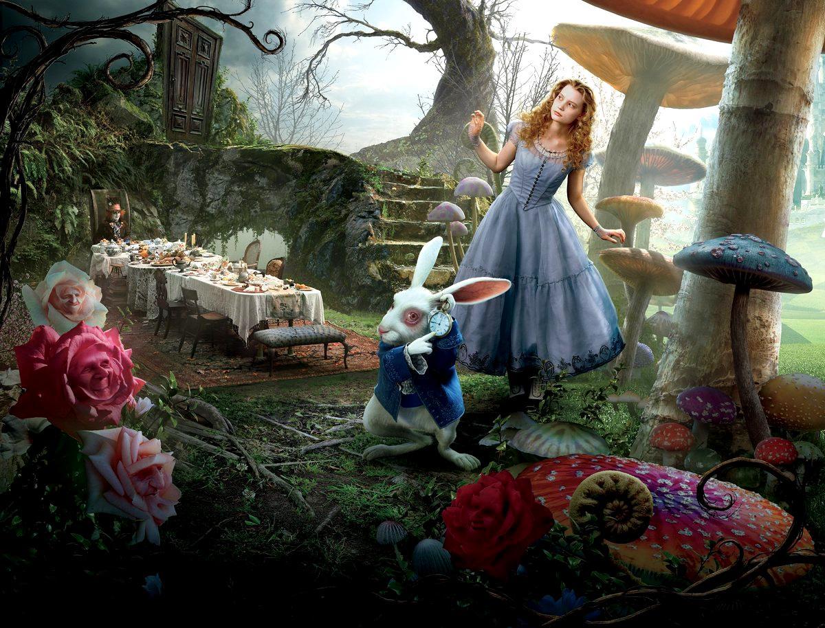 An older Alice wanders through Wonderland in Tim Burton's 2010 film