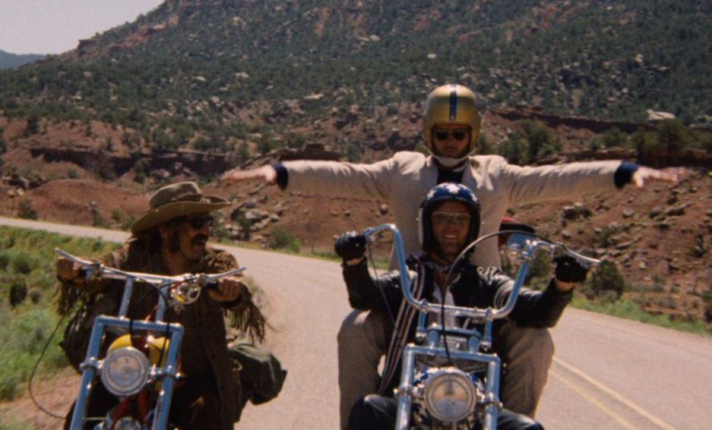 Motorcycle riding in Easy Rider