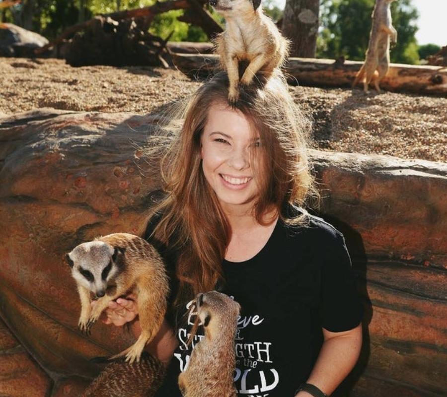 Bindi irwin and meercats