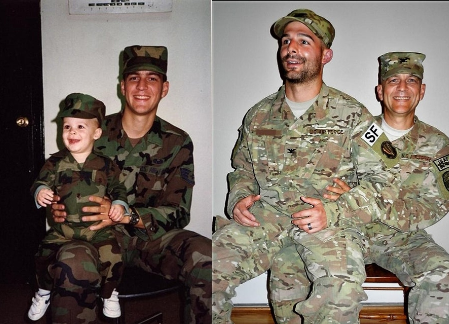 military man and son