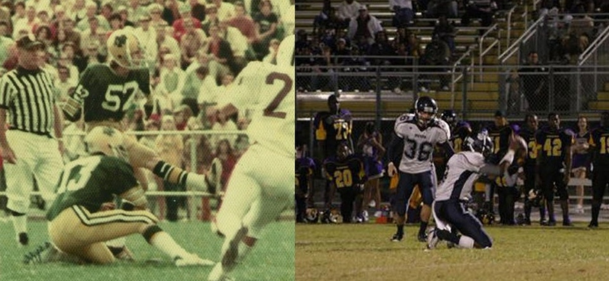 football kicker in highschool dad and son