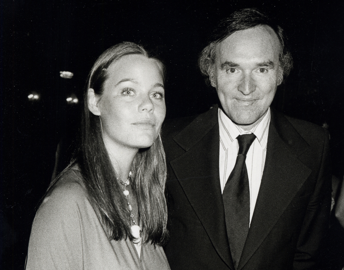 Susan Dey stands with Lenny Hirshan during