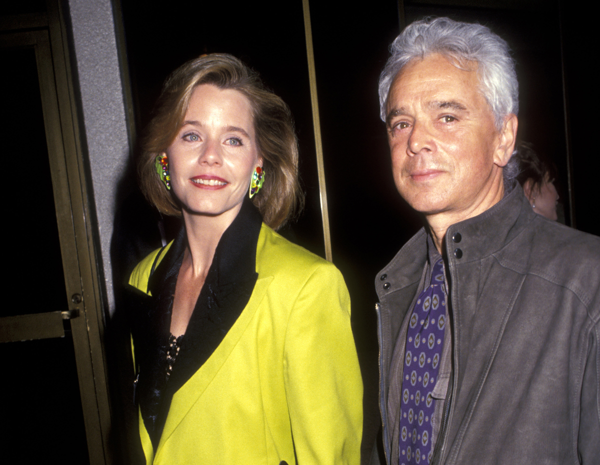 Susan Dey and her husband, Bernard Sofronski , pose for photos during the