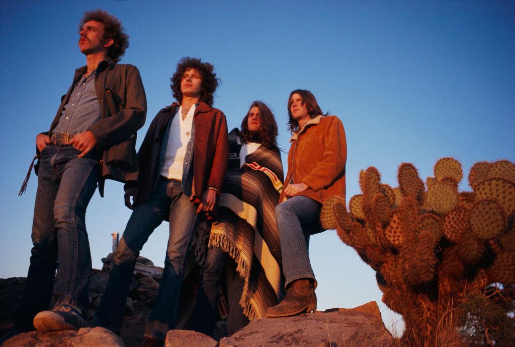 The Eagles posing in the desert