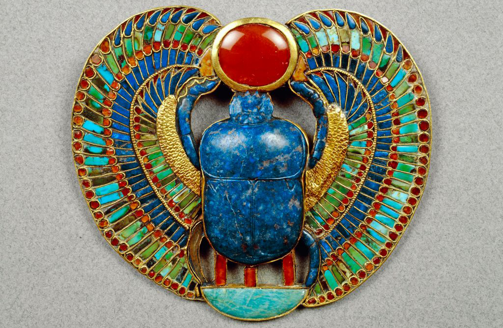 Scarab made up of precious stones