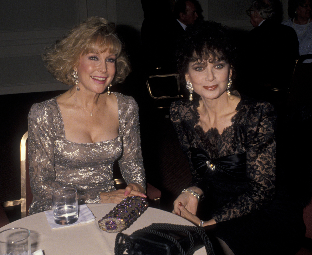 Actress Barbara Eden and Suzanne Pleshette attend Variety Club International Benefit Gala.
