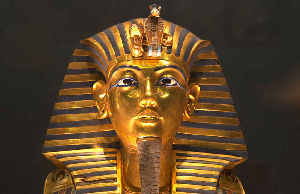king Tut's death mask