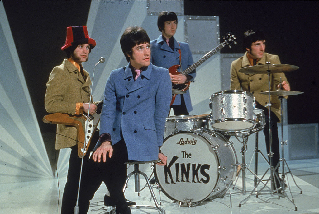 The Kinks preparing to perform on television